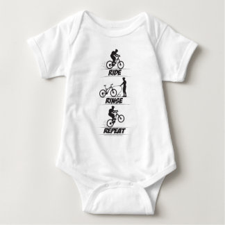 Ride Rinse Repeat Baby Bodysuit