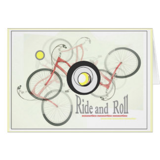Ride & Roll Greeting Card