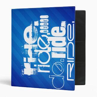 Ride; Royal Blue Stripes Vinyl Binder