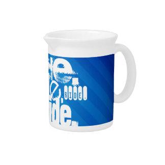 Ride; Royal Blue Stripes Drink Pitchers