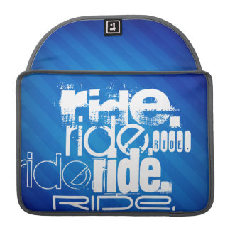 Ride; Royal Blue Stripes Sleeve For MacBook Pro