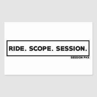 RIDE. SCOPE. SESSION. RECTANGULAR STICKER