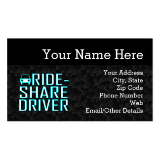 Ride Share Driver Rideshare Driving Business Card