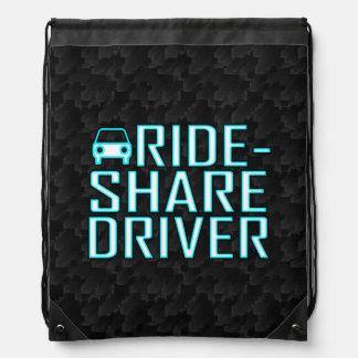 Ride Share Driver Rideshare Driving Drawstring Backpack
