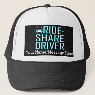 Ride Share Driver Rideshare Driving Personalized Trucker Hat