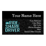 Ride Share Driving Uber Driver Rideshare Double-Sided Standard Business Cards (Pack Of 100)