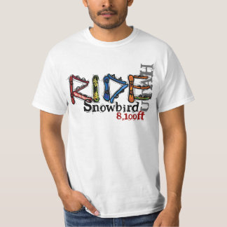 Ride Snowbird Utah snowboard value tee
