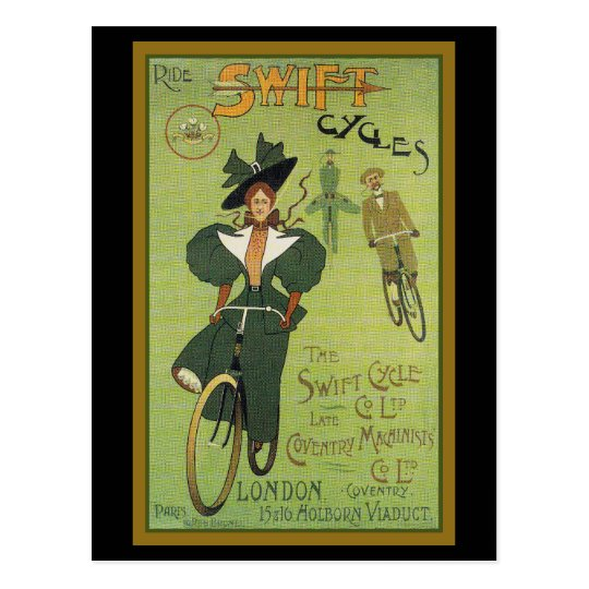 Ride Swift Cycles Postcard