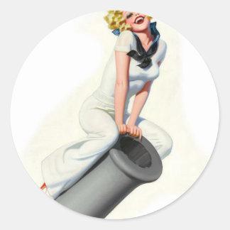 Ride the Canon Classic Round Sticker
