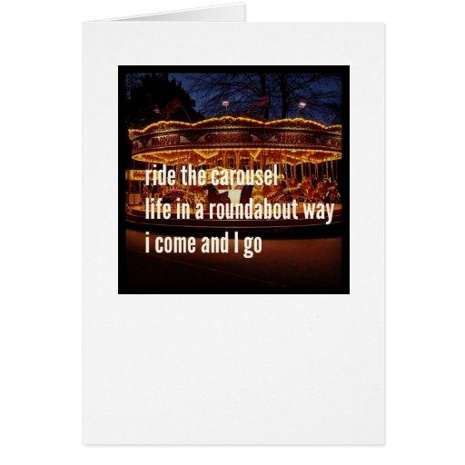 Ride The Carousel Greeting Card