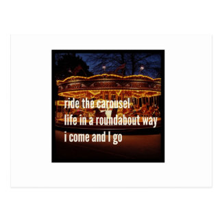 Ride The Carousel Postcard