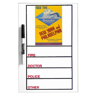 Ride The Crusader-New Jersey Central Lines Dry-Erase Board