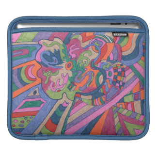 Ride the Groovy Rainbow, abstract Sleeve For iPads