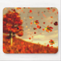Ride the October Breeze Mousepad