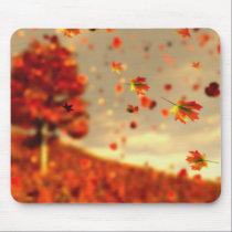 Ride the October Breeze Mousepad