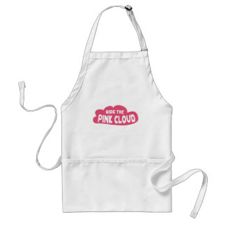 ride the pink cloud adult apron