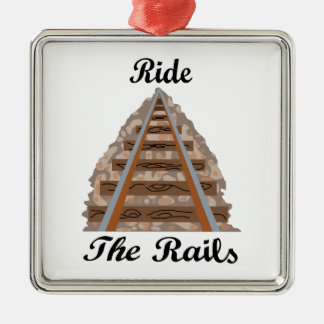Ride The Rails Metal Ornament