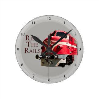 Ride the Rails Round Clock