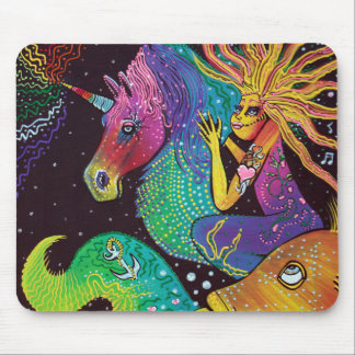 Ride The Rainbow Mouse Pad
