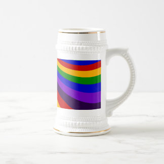 Ride the Rainbow Slide Colorful Stripes Beer Stein