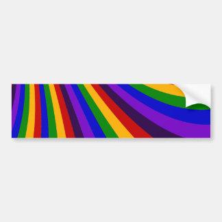 Ride the Rainbow Slide Colorful Stripes Bumper Sticker