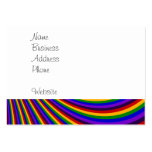 Ride the Rainbow Slide Colorful Stripes Business Card Templates
