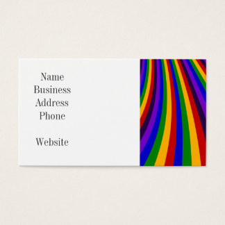 Ride the Rainbow Slide Colorful Stripes Business Card