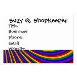 Ride the Rainbow Slide Colorful Stripes Business Card Template