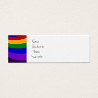 Ride the Rainbow Slide Colorful Stripes Mini Business Card