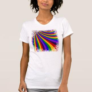 Ride the Rainbow Slide Colorful Stripes Tee Shirt