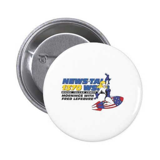 Ride the Rocket Pinback Buttons