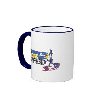Ride the Rocket Ringer Mug
