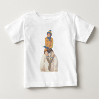 Ride the Snowman Baby T-Shirt