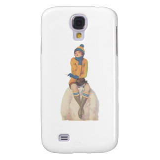 Ride the Snowman Galaxy S4 Cover