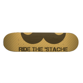 Ride The 'Stache Skateboard Deck