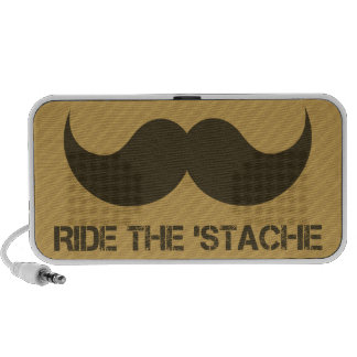 Ride The 'Stache Notebook Speakers