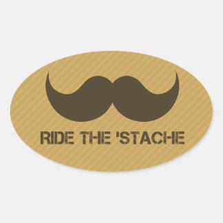 Ride The 'Stache Stickers