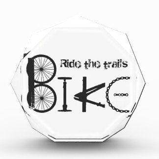 Ride the Trail Bike Graffiti quote Award