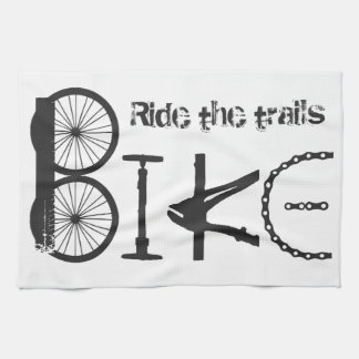 Ride the Trail Bike Graffiti quote Hand Towel