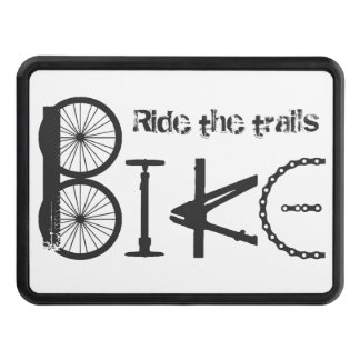 Ride the Trails Bike Graffiti Quote Biking Sport Hitch Cover