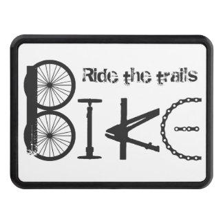 Ride the Trails Bike Graffiti Quote Biking Sport Hitch Cover