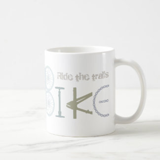 Ride the Trails Bike Graffiti Sport Quote Coffee Mug