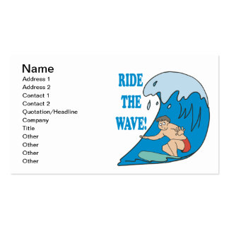 Ride The Wave Double-Sided Standard Business Cards (Pack Of 100)