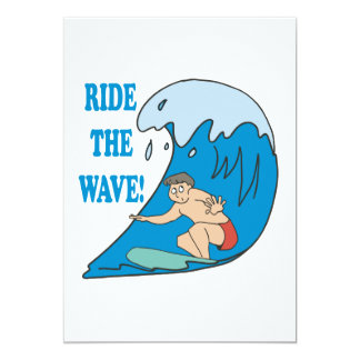 Ride The Wave 5x7 Paper Invitation Card