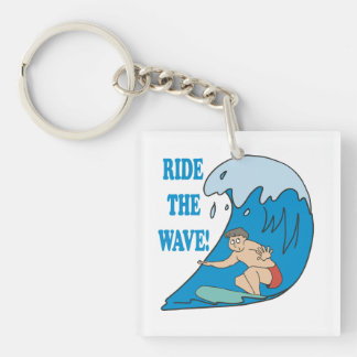 Ride the Wave Keychain