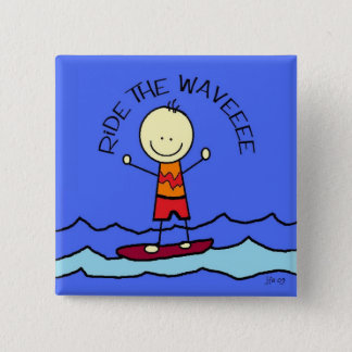 ride the wave pinback button