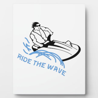 Ride The Wave Display Plaque