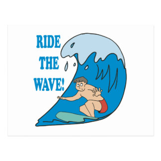 Ride The Wave Postcard