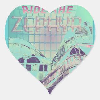 Ride The Zephyr Vintage Nostalgia 1949 Heart Sticker