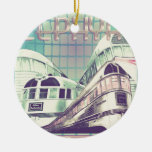 Ride The Zephyr Vintage Nostalgia 1949 Double-Sided Ceramic Round Christmas Ornament
